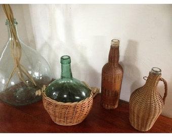 dame jeanne /demi John,bouteille de vin française ancienne ,décoration de ferme bouteille antique,