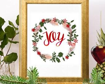 joy joy wreath joy sign with wreath joy printable joy sign joy to the world joy christmas sign christmas words joy decor