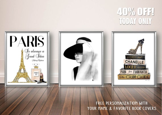Fashion Wall Art Decor Paris Is Always A Good Idea Audrey Etsy