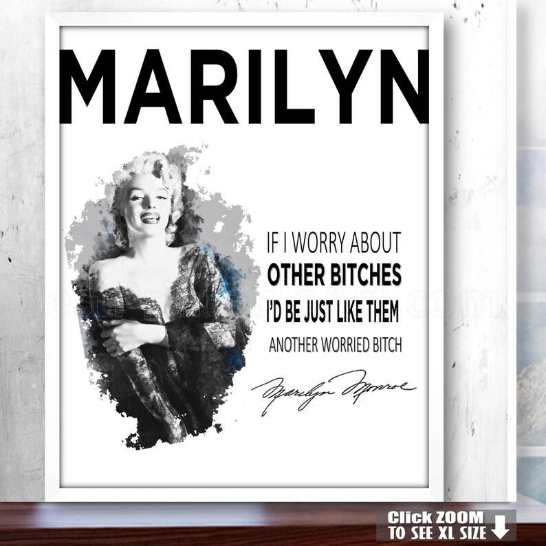 Marilyn Monroe Decor Fashion Prints Marilyn Print Woman Etsy