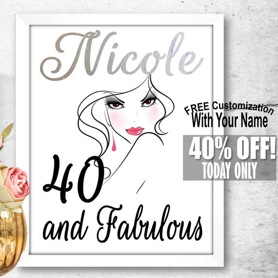 Personalized Gift Ideas For Her 40 And Fabulous 40th