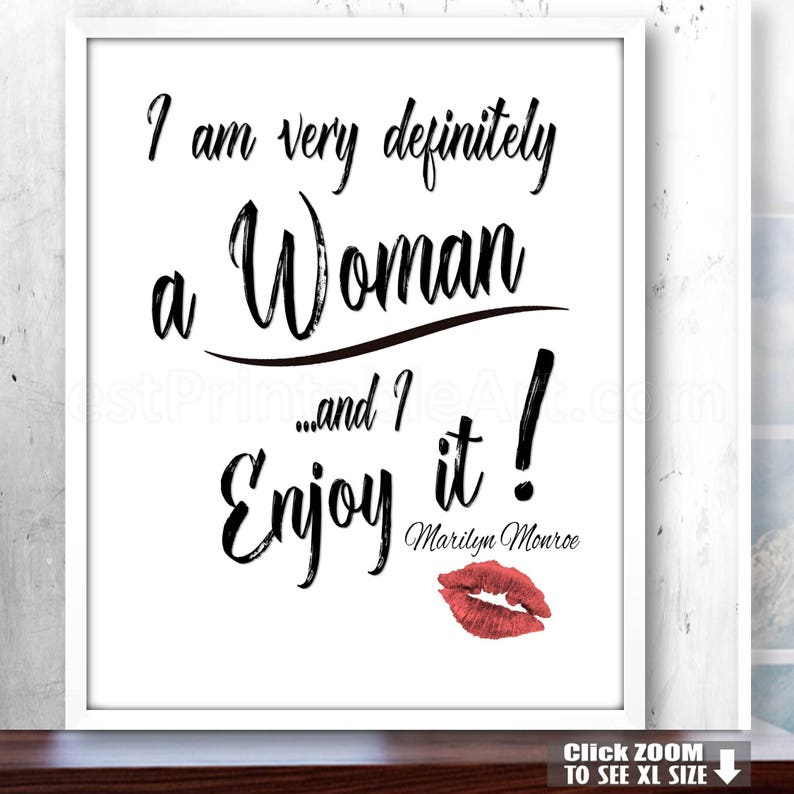 Gift For Her, Fashion Wall Art, Fashion Quotes, Fashion Typography, Marilyn  Quote, Marilyn Quotation, Instant Download Inspirational Marilyn