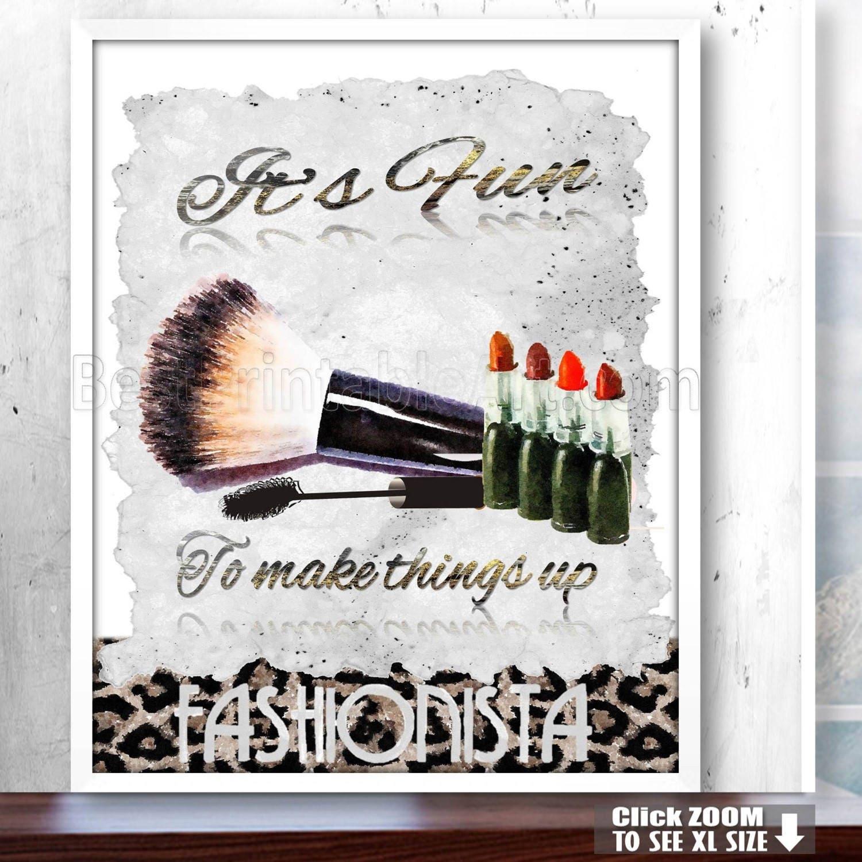 Make Up Art Makeup Print Make Up Decorlipstick Printbeauty Etsy