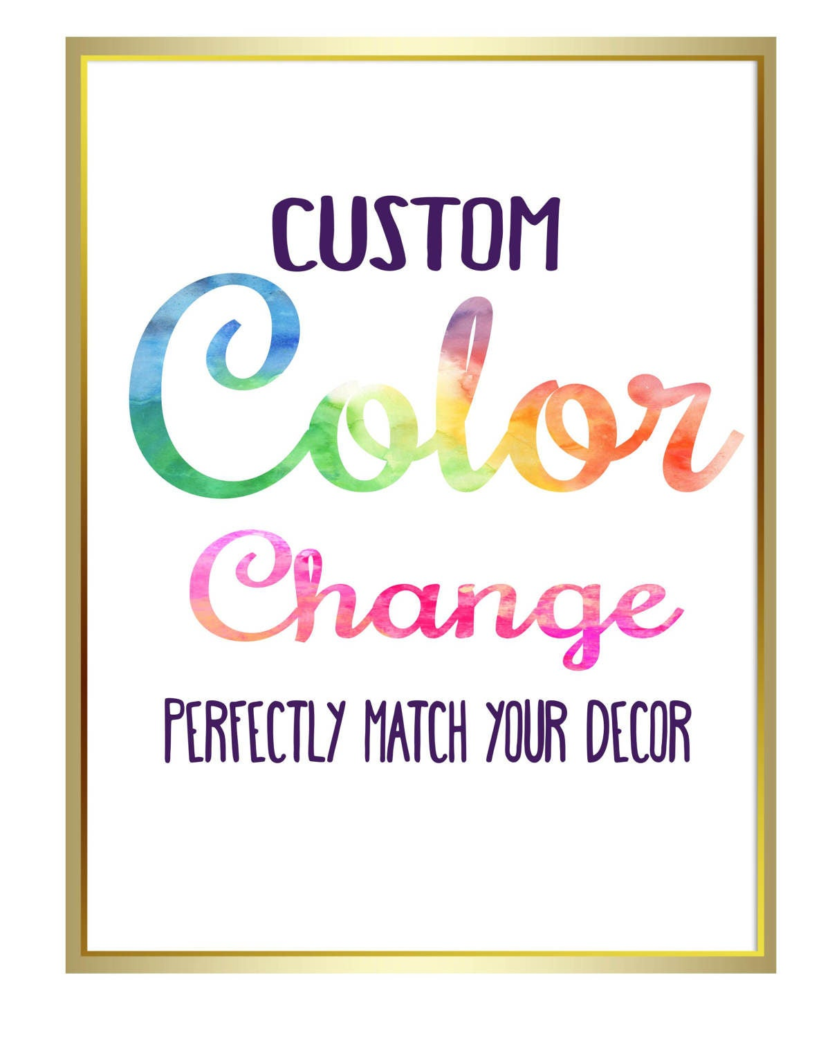 Cheap Design Changes That Have: Custom Color Change Perfectly Match Your Decor Custom Art