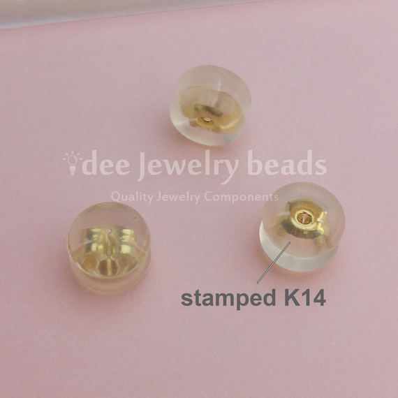 18k Solid yellow gold Hollow Ear Jacket with 3mm Cup Peg 18 karat Solid yellow gold K173
