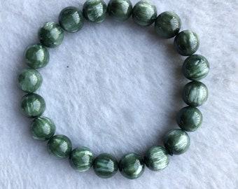 Motivated Fine Jewelry Natural Yu 10mm Round Bead Bracelet Handmade Bangle For Men Jewelry Women Jewelry/ Bracelets & Bangles