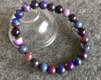 United 9mm Natural Purple Sugilite Gemstone Woman Round Beads Healing Bracelet Aaa Collectibles