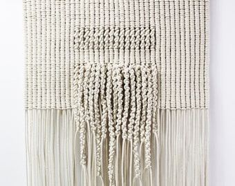 Woven Wall Art, Living Room Wall Decor, Woven Wall Tapestry Hanging, Macrame Wall Hanging Large