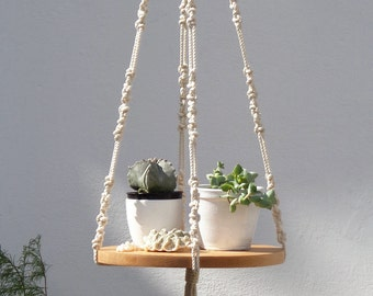 Macrame Plant Hanger, Hanging Planter, Plant Hanger, Macrame Shelf, Large Macrame Plant Hanger, Planter, Plant Holder, Plant Lovers Gift