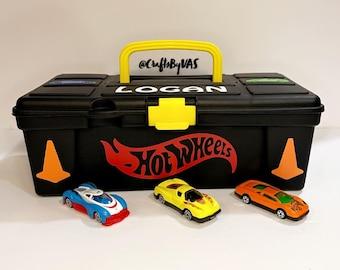 Hot Wheels Case, Hot Wheel Cars, Travel Case, Activity Kit, Storage Bin, Tool Box, Gift for Kids, Birthday Gift, Activity Set