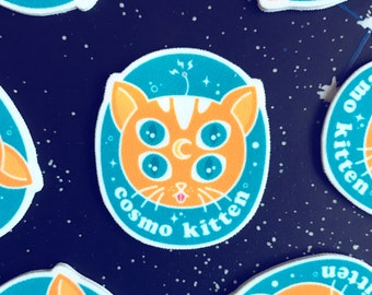 Cosmo Space Kitty // Brooch Lapel Pinback