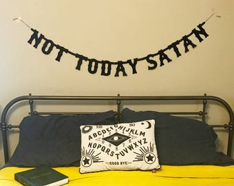 Not Today Satan Banner // Papercut Letter Bunting Banner