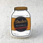 Duke's Mayonaise Mayo Condiment Queen // Brooch Lapel Pinback