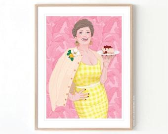 The Golden Girls Blance Devereaux // Giclée Archival Matte Art Print