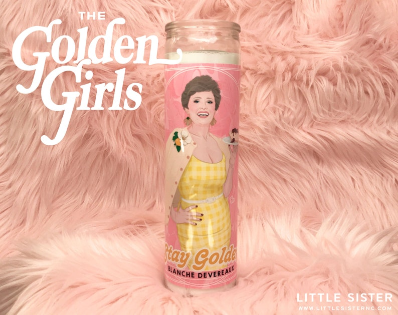 The Golden Girls Blanche Devereaux // 7 Day Altar Candle image 0
