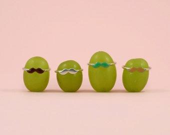 Tasha Moustache Stack Rings