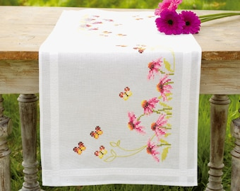 Vervaco Cross Stitch Kit Echinacea and Butterfly Runner PN-0149412