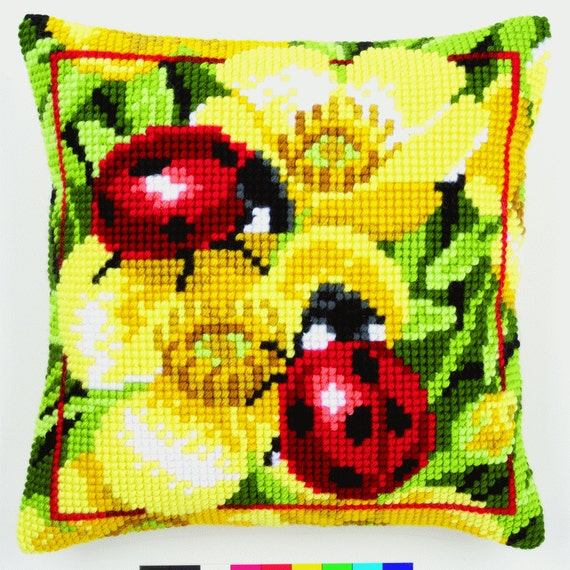 Vervaco PN-0150863 Cross Stitch Cushion Front Kit Owl Close Up