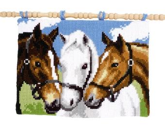 Vervaco Cross Stitch Kit Three Horses Wall Hanging PN-0149572