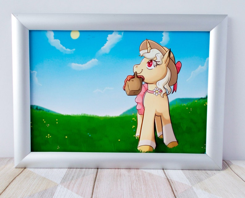 Kids unicorn print A4 Cute Unicorn print Summer unicorn print