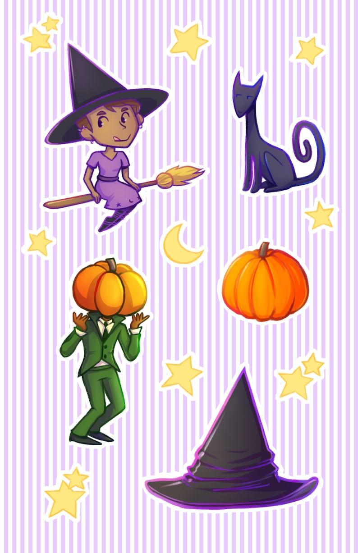 witchery etc sticker sheet image 0