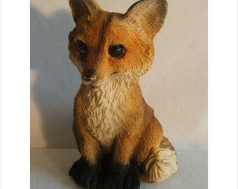 Latex mould / mold for a Sitting Fox.