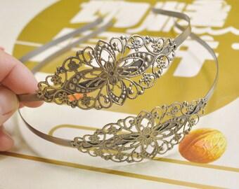 Flower Headband,5pcs Antique Bronze headbnad with Filigree HeadBands,Women,Girls,Wedding Headband,DIY Accessory Jewelry Making