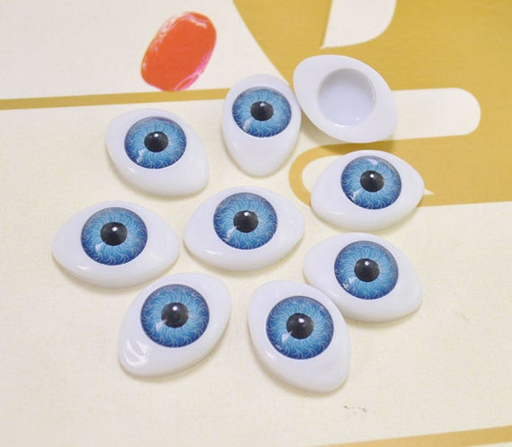 Fairies 10 Pair 23mm Oval Plastic Doll Eyes,Brown Colors for Dolls,Puppets Trolls Ooaks Carving Jewelry Sculpture Mermaids
