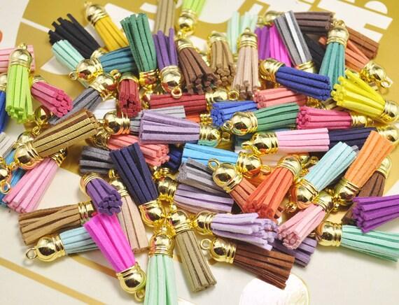 20Pcs Fringe tassels,Mixed Color tassels,heart tassels,Love tassels,leather tassels for handbags keychains diy jewelry supplies 85mm