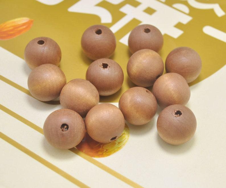 wood craft,space wood beads\uff0cwholesale beads 50pcs Brown Round Wood Beads,20mm round wooden bead,necklace bead.bracelet bead