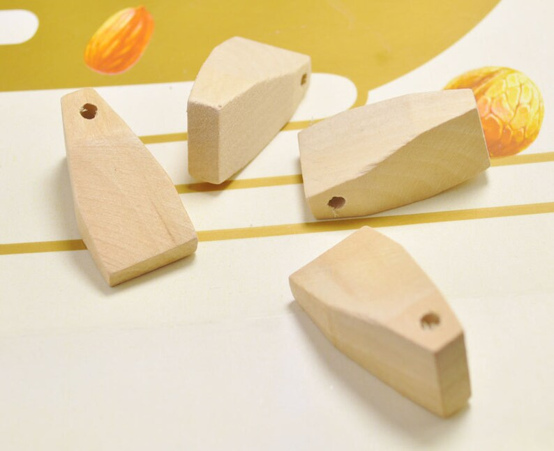 38x20mm. 20pcs irregular wood beads,natural unfinished wooden beads,wooden bead necklace charm,wood pendant,Jewelry Making,Craft Supplies-
