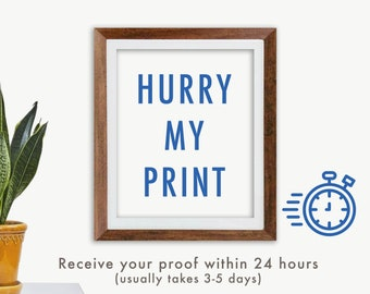 Hurry my print   Print order to the top of the queue