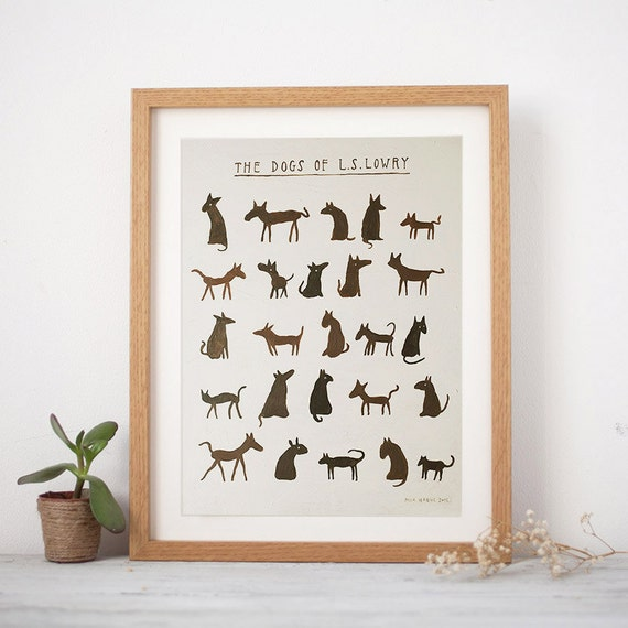 Dogs of L S Lowry Print