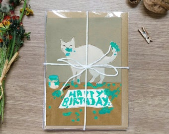 Pack of 5 Cat Cards.