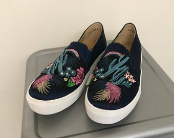 b9f24232cb Cactus Embroidered Slip Ons
