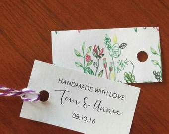 Wedding favour tags - handmade with love