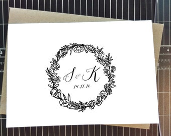 Customised Wedding Thank you cards, thank you card