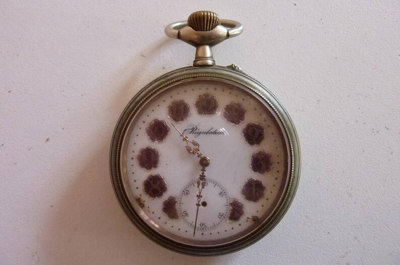 Horlogerie Montre à Gousset Régulateur Fin Xixème En Argentan Etsy