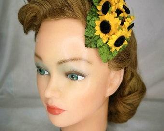 Yellow hair flower etsy sunflower hair flower yellow hair flower vintage hair flower hair flower clip autumn hair flower mightylinksfo