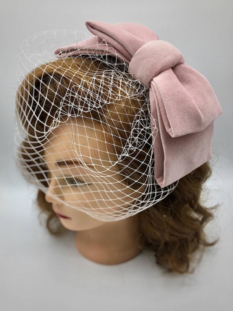 f65d6916 Hair bow fascinator cocktail hat The 'Bonnie Veil' | Etsy