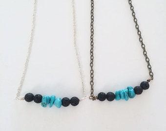 Essential oil diffuser necklace, lava diffuser necklace, lava stone necklace, diffuser necklace, diffuser jewelry, necklace diffuser oils