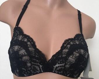 c762c45cca Vintage deadstock OLGA black lace bra
