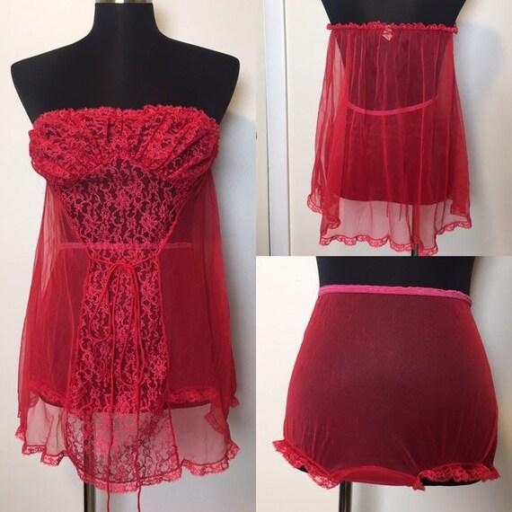 Vintage Blancher lace lingerie set