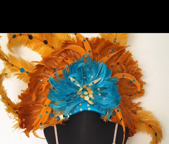 Vintage showgirl ostrich feather headdress