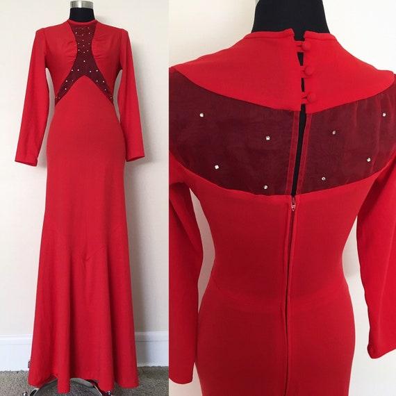 1950s Miss Melinda gown// Vintage bias cut dress