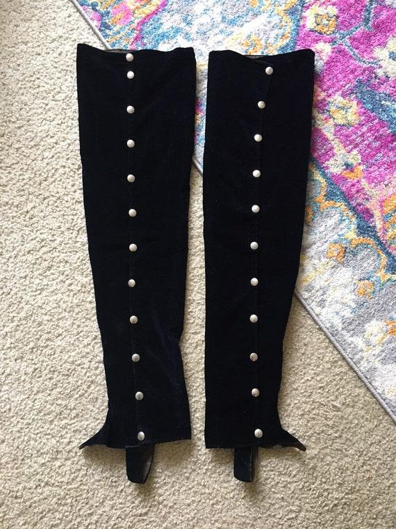 Vintage velvet spats