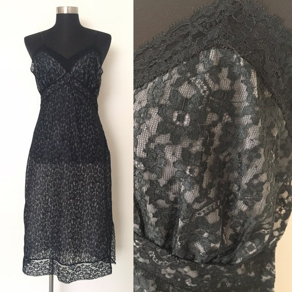 Vintage Van Raalte lingerie // 1940s slip dress