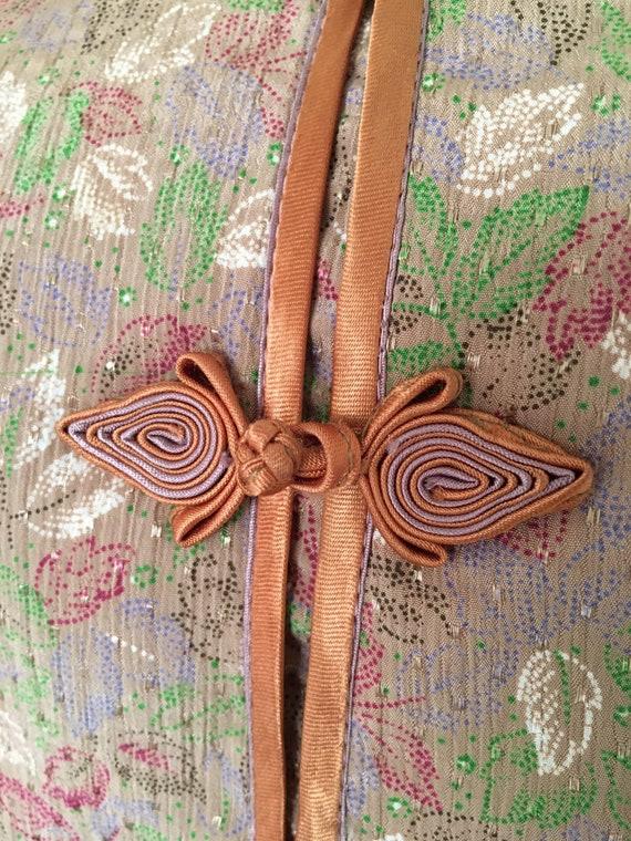 Vintage silk knot button pajama set - image 6