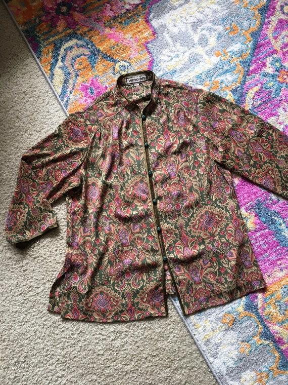 Vintage silk Pajama set - image 2