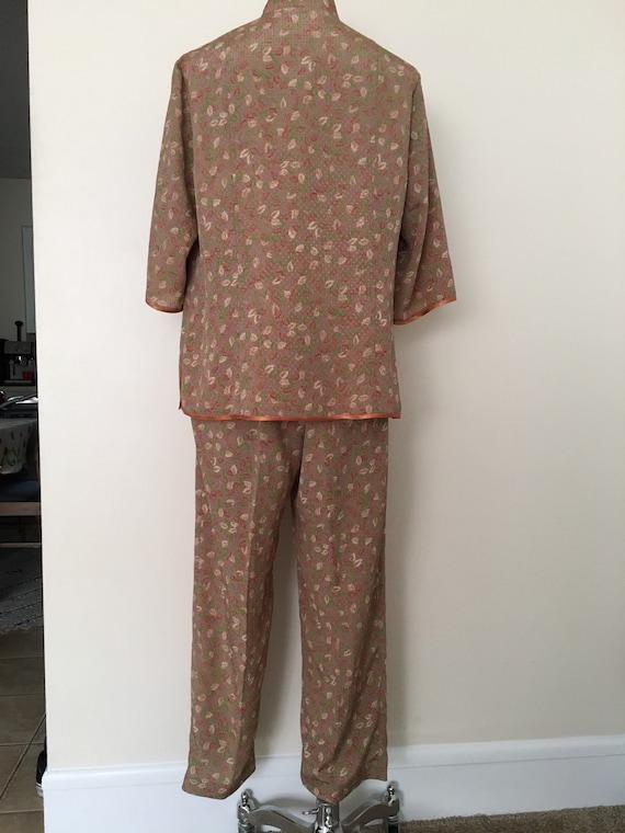 Vintage silk knot button pajama set - image 3